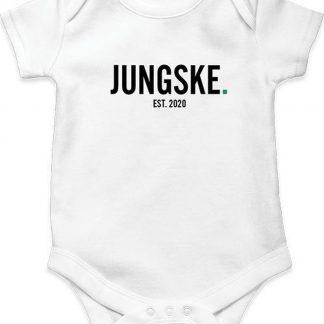 bijStip Rompertje Jungske Jongen - Zwart Wit - maat 74/80