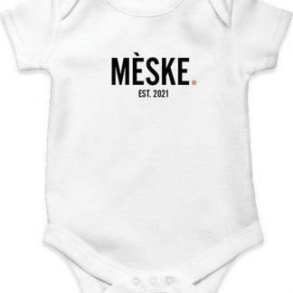 bijStip Rompertje Mèske Meisje - Zwart Wit - Maat 74/80