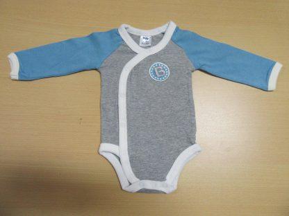 3 Pack body voor jongens van dirkje , blauw grijst , 6 maand 68