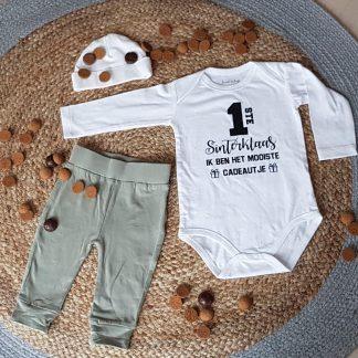 Baby cadeau Sinterklaas Romper - tekst mijn eerste sint hulppiet pietje hulp piet pakje jongen meisje