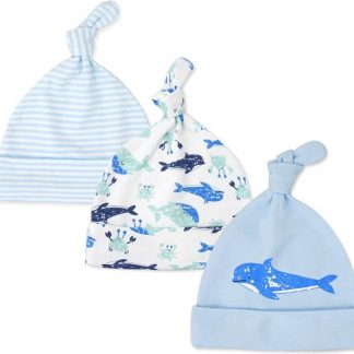 Babymuts set - dolfijn | 3 stuks | Kidzstore.eu