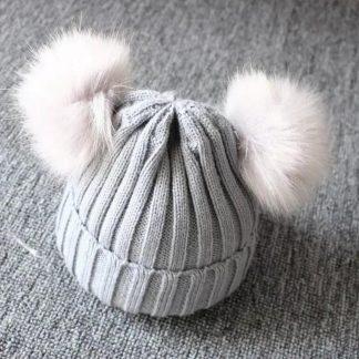 BonBini's Babymuts - Luxe babymutsjes- One Size - Unisex - Dark Grey