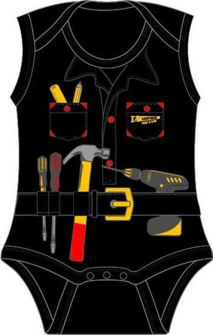 Fun2Wear Handyman Romper zwart maat 50
