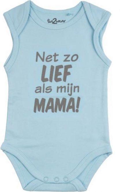 Fun2Wear Romper Net als mama Light blue maat 50
