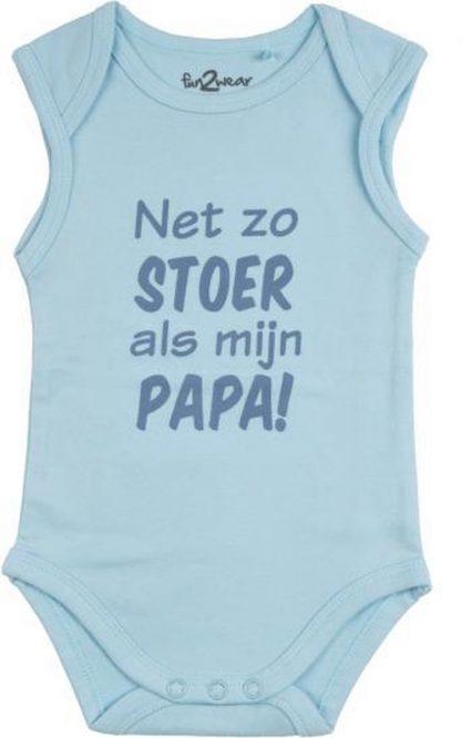 Fun2Wear Romper Net als papa Light blue maat 68