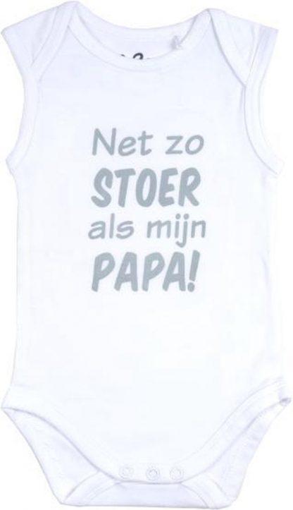 Fun2Wear Romper Net als papa White maat 74