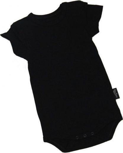 KinderBasicsRomper Korte mouw - Zwart - 80
