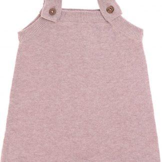 Lässig baby gebreide Jumpsuit GOTS Garden Explorer light pink maat 50 56 voor 0 2mnd