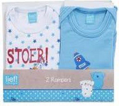 Lief! Stoer Rompers 2 Pack voor Baby's maat 74-80 - 24x20x2cm   Kleding voor Zuigelingen   Rompertjes en Box pakjes   Babykleding voor Jongetjes