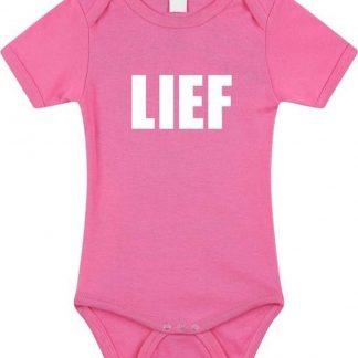 Lief tekst baby rompertje roze meisjes - Kraamcadeau - Babykleding 56 (1-2 maanden)