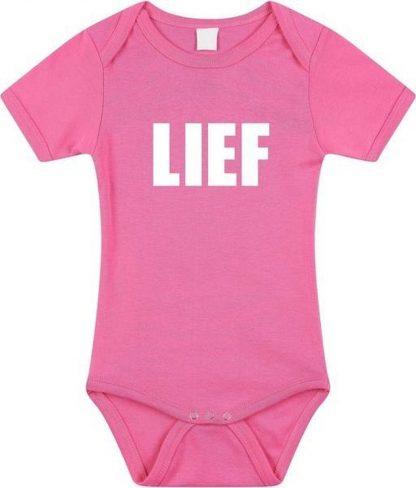 Lief tekst baby rompertje roze meisjes - Kraamcadeau - Babykleding 80 (9-12 maanden)
