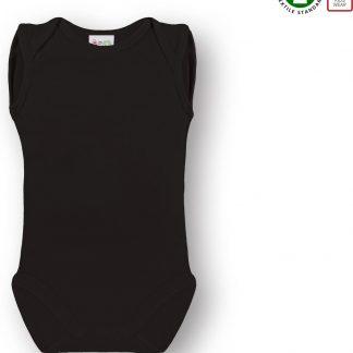 Link Kidswear Romper, mouwloze romper. BIO 100% katoen GOTS, maat 74-80 in de kleur zwart.