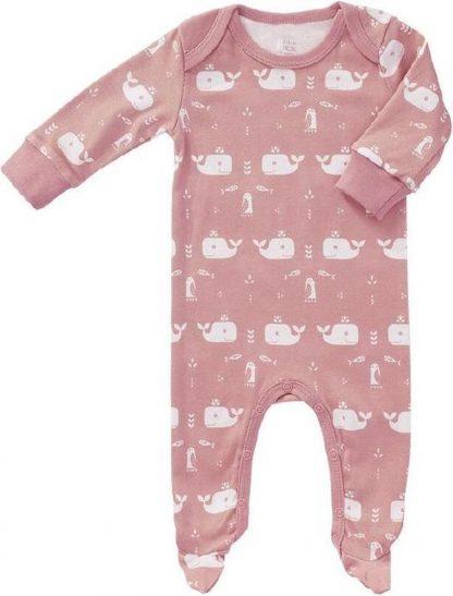 Pyjama Met Voet Walvis - Zacht Rozemaatnewborn