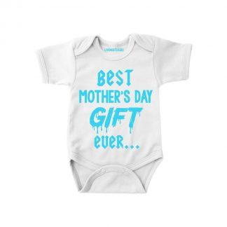 Rompertje moederdag Best mother's day gift ever... | maat 68 | Moederdag romper jongen