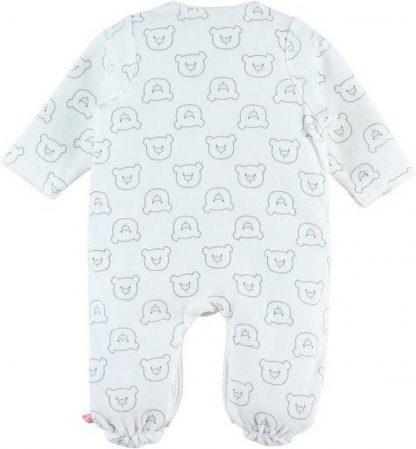 pyjama noukie's in gebroken wit met snuit nouky beer 0 maand 50