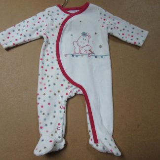 pyjama noukie's victoria in velour voor meisje 6maand - 68