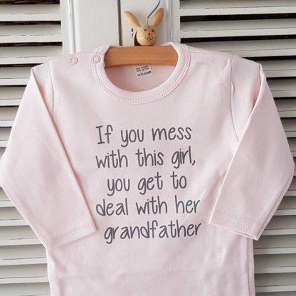 romper baby set met tekst jongen meisje lange mouw 3 stuks| lieve opa oma en mama ik ben het mooiste cadeautje dit jaar| maat 50-56