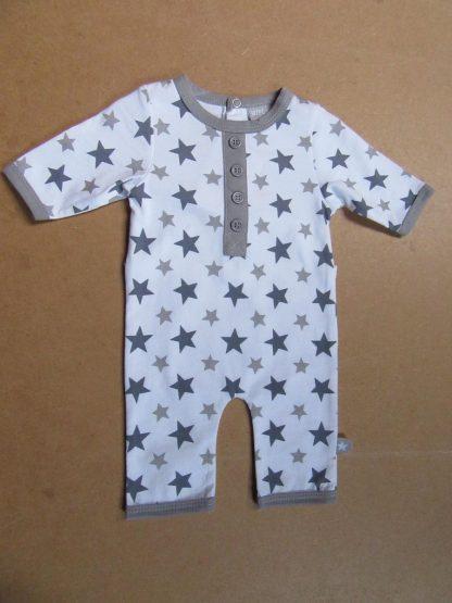 wiplala combi wit met grijze sterren 0 maand 50