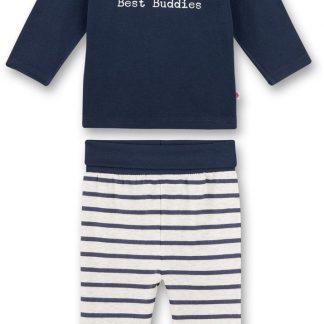 Sanetta baby pyjama jongen Blue Animals 80