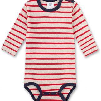 Sanetta baby romper jongen Breton Striped Red 74