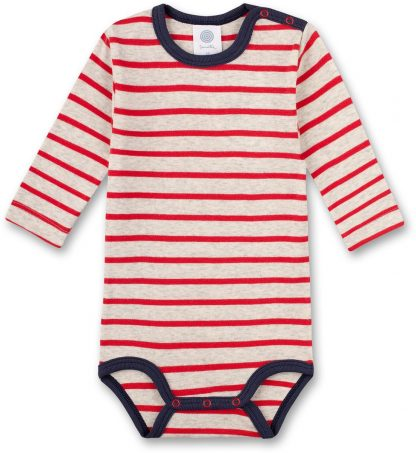 Sanetta baby romper jongen Breton Striped Red 86