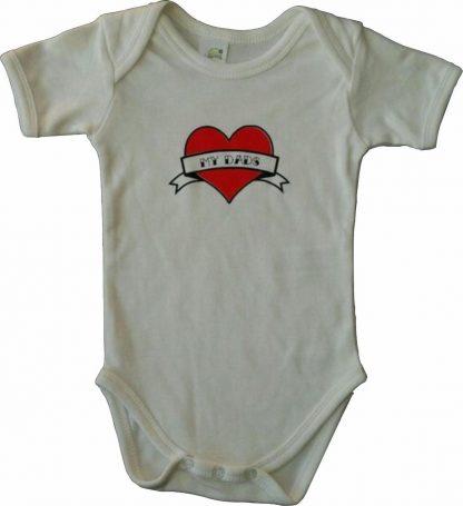 """Witte romper met """"My dads"""" - maat 62/68 - vaderdag, cadeautje, kraamcadeau, grappig, geschenk, baby, tekst, bodieke"""