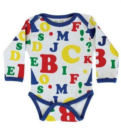 Baby Romper Biowolk Letters Maat 56
