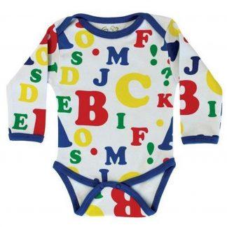 Baby Romper Biowolk Letters Maat 62
