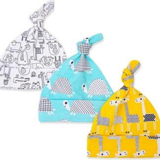 Babymuts set - giraffe   3 stuks   Kidzstore.eu