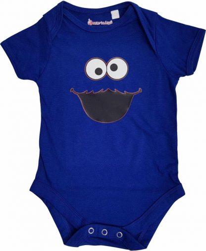 Blauwe romper met monstertje - 6 tot 12 maanden - babyshower, zwanger, cadeautje, kraamcadeau, grappig, geschenk, baby, tekst, bodieke