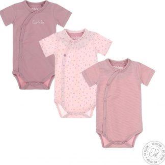 Dirkje Baby Meisjes 3 Pack Rompertje - Maat 74/80
