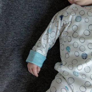 Verhip boxpak - babykleding - 62/68 - roze - wit - gestipt - biologisch katoen - boxpakje jongen - duurzaam cadeau- babykleding jongen - meegroeimouwen- babykleertjes - kraamcadeau