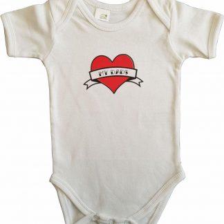 """Witte romper met """"My dads"""" - maat 74/80 - vaderdag, cadeautje, kraamcadeau, grappig, geschenk, baby, tekst"""