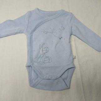 noukie's , 2pack , bodyset , jongen, bleek blauw , lange mouw , 0 maand 50