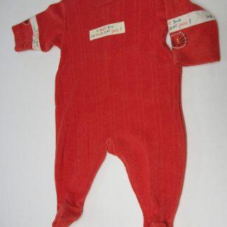 petit bateau , pyjama , badstof , eponge , rood , 3 maand 60