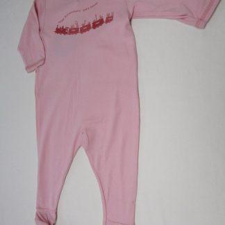 petit bateau , pyjama , katoen , rose, dierentrein , meisje , 12 maand 74