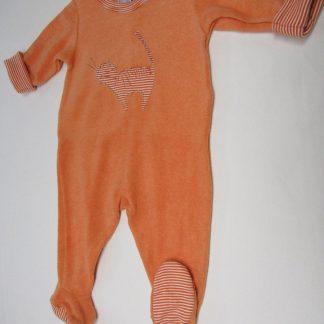petit bateau , pyjama , orange, badstof , 3 maand 60