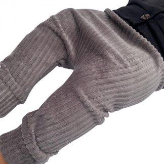 tinymoon Unisex Broek Rib - model drop crotch - Morel - Maat 74/80