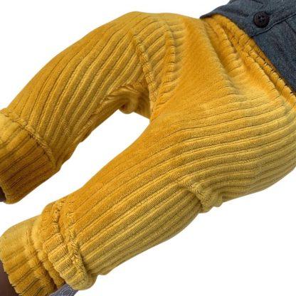 tinymoon Unisex Broek Rib - model drop crotch - Oker - Maat 74/80