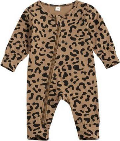 Fabs World baby pakje panterprint met rits (3 maanden)