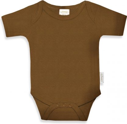 Funnies romper uni line Brown clay | romper 62-68 | baby | 100% zuivere katoen | rompertjes baby| rompers | romper korte mouw