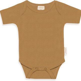 Funnies romper uni line Sand | romper 62-68 | baby | 100% zuivere katoen | rompertjes baby| rompers | romper korte mouw