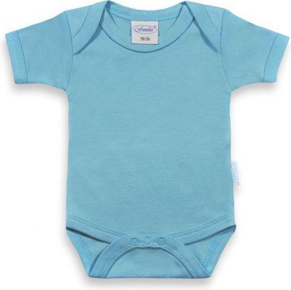 Funnies romper uni line blauw | romper 62-68 | baby | 100% zuivere katoen | rompertjes baby| rompers | romper korte mouw