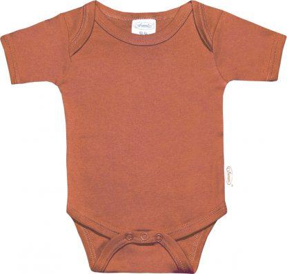 Funnies romper uni line copper | romper 62-68 | baby | 100% zuivere katoen | rompertjes baby| rompers | romper korte mouw