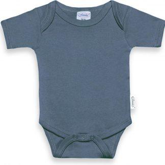 Funnies romper uni line grey/blue | romper 62-68 | baby | 100% zuivere katoen | rompertjes baby| rompers | romper korte mouw