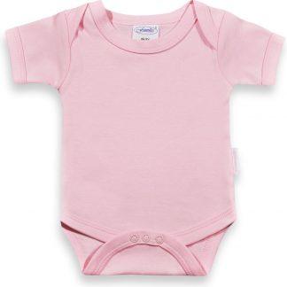 Funnies romper uni line roze | romper 62-68 | baby | 100% zuivere katoen | rompertjes baby| rompers | romper korte mouw