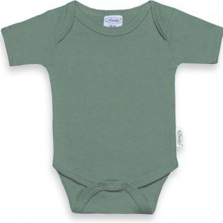Funnies romper uni line stone green| romper 62-68 | baby | 100% zuivere katoen | rompertjes baby| rompers | romper korte mouw