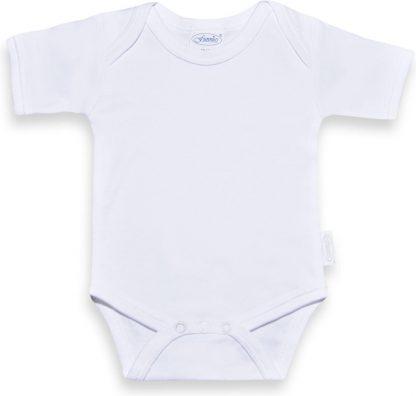 Funnies romper uni line wit | romper 62-68 | baby | 100% zuivere katoen | rompertjes baby| rompers | romper korte mouw
