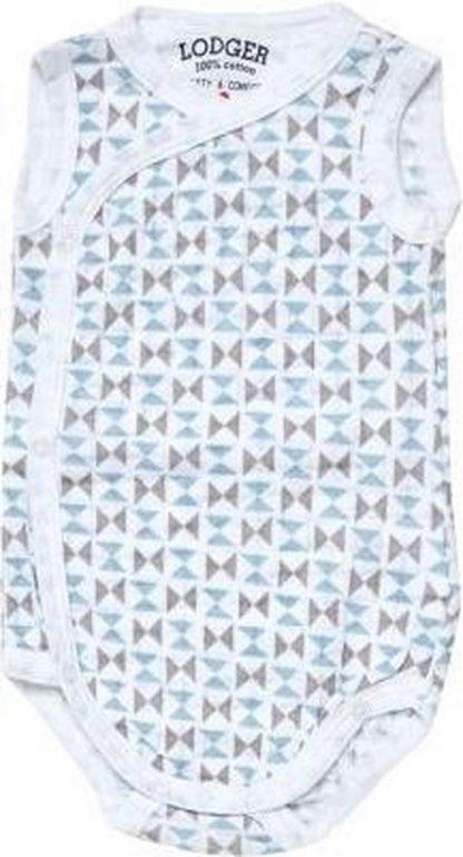 Lodger Rompertje Baby - Romper Scandinavian - Blauw/grijs - Mouwloos - 68
