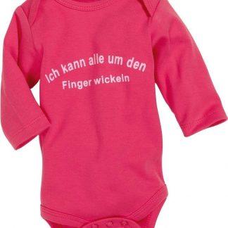 Schnizler Romper Lage Mouw Junior Katoen Roze/wit Mt 62/68